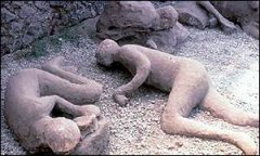 Long dead citizens of Pompeii
