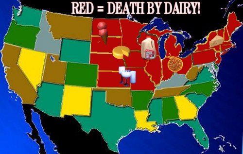 death by dairy map
